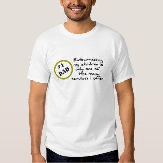 Dadism divertido, la mejor camiseta del papá playeras