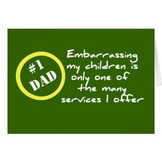 Dadism divertido, la mejor tarjeta del papá