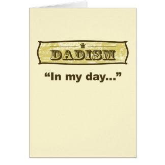 Dadism - en mi día tarjeta de felicitación