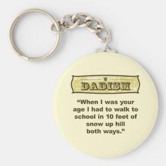 ¡Dadism - encima de la colina ambas maneras! Llavero Redondo Tipo Pin