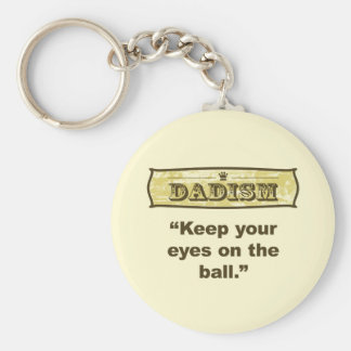 Dadism - guarde sus ojos en la bola llavero redondo tipo pin