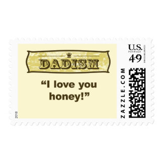 Dadism - I love you honey Postage Stamp