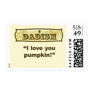 Dadism - I love you pumpkin Postage