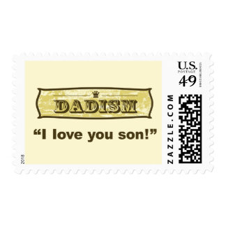 Dadism - I love you son Stamp
