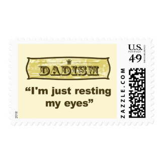 Dadism - I'm just resting my eyes Stamp