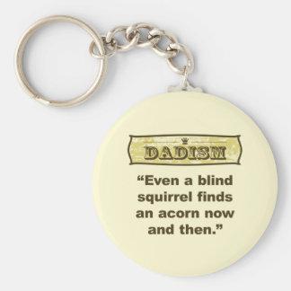 Dadism- incluso un hallazgo ciego de la ardilla un llavero redondo tipo pin