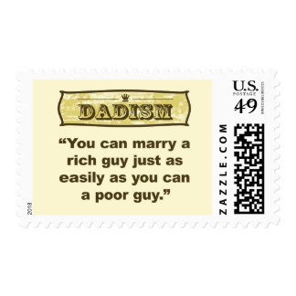 Dadism - Marry a Rich Guy Postage Stamp