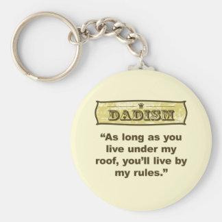 Dadism - mi tejado, mis reglas llavero redondo tipo pin