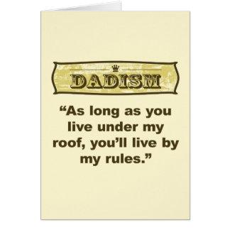 Dadism - mi tejado, mis reglas tarjeta de felicitación