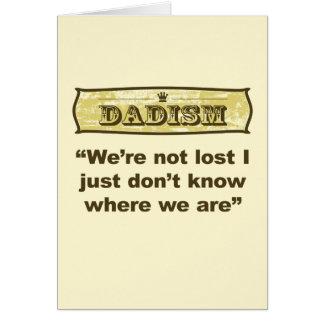 Dadism - nos no pierden tarjeta de felicitación