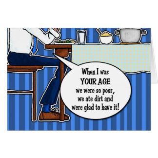 Dadism - para cualquier padre tarjeta de felicitación