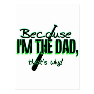 ¡Dadism - porque Im el papá, de que es por qué! Tarjetas Postales