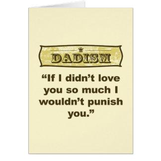 Dadism - si no le amara tanto que no. tarjeta de felicitación