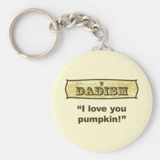 Dadism - te amo calabaza llavero redondo tipo pin