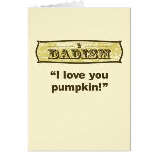 Dadism - te amo calabaza tarjeta de felicitación