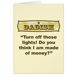 Dadism - Turn off the lights! Card