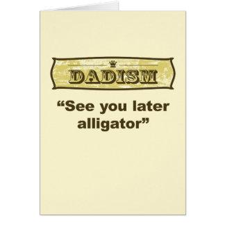 Dadism - véale cocodrilo posterior tarjeta de felicitación