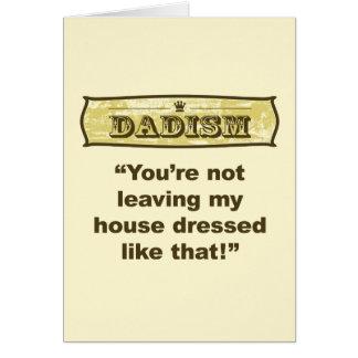 Dadism - vestido como ése tarjeta de felicitación