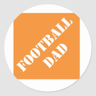 Dadisms Football Dad Round Sticker
