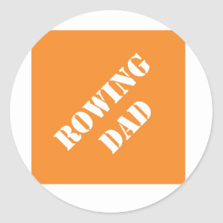 Dadisms Rowing Dad Round Sticker