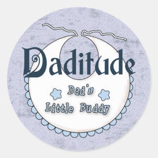 Daditude Round Sticker