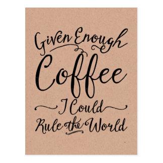 Dado bastantes postales del café