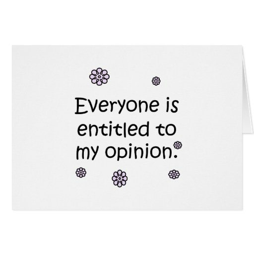 Dado derecho a mi opinión tarjeta