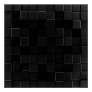 Dado en negro - negro póster