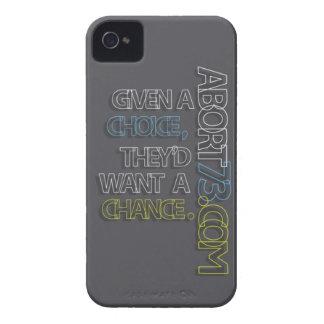 Dado una opción, querrían una ocasión. /Abort73 Case-Mate iPhone 4 Cárcasa