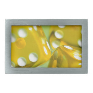 Dados amarillos hebilla de cinturon rectangular
