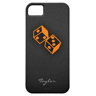 Dados anaranjados del casino iPhone 5 funda