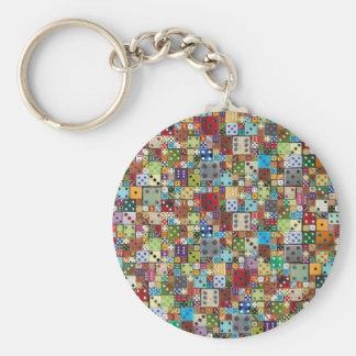 Dados coloridos llavero personalizado