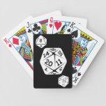 Dados de encargo conocidos cones monograma del col baraja de cartas