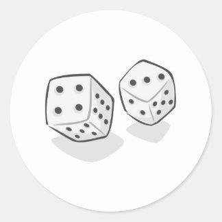 Dados de juego pegatina