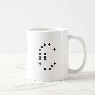 Dados de la letra C Taza De Café