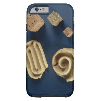 Dados de la piedra arenisca y juego del laberinto funda resistente iPhone 6