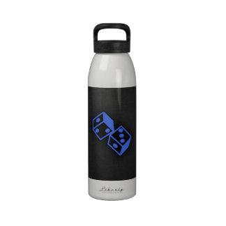 Dados del azul real botellas de beber