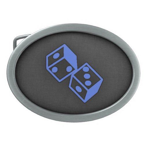 Dados del azul real hebilla cinturon oval