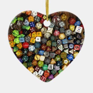 Dados del juego del RPG Adorno De Cerámica En Forma De Corazón
