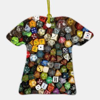 Dados del juego del RPG Adorno De Cerámica En Forma De Camiseta