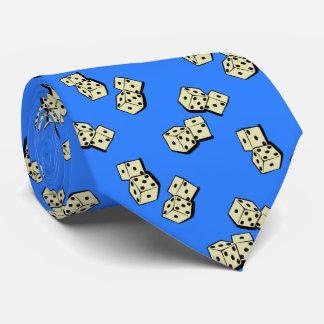 Dados que caen que juegan el azul francés corbata personalizada