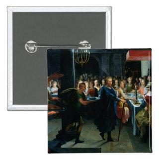 Dados que ofrecen un banquete a Francus Pin Cuadrado
