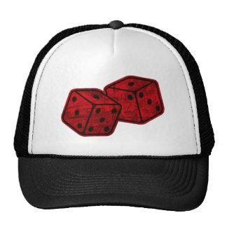 Dados rojos retros gorra