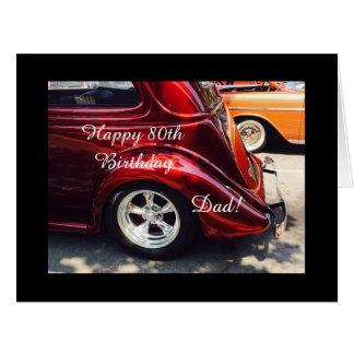 Dad's 80th birthday card