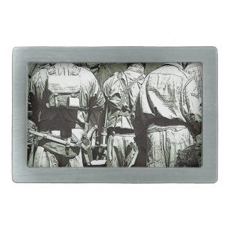 Dads Army on parade Rectangular Belt Buckle