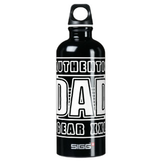 Dads Authentic Father Gear Aluminum Water Bottle
