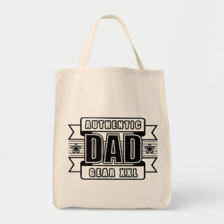 Dads Authentic Father Gear Grocery Tote Bag