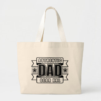 Dads Authentic Father Gear Jumbo Tote Bag