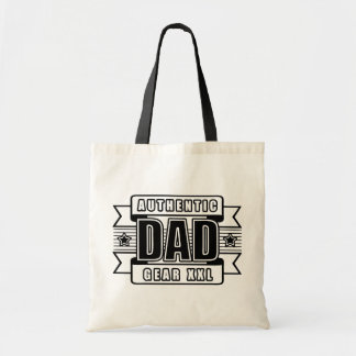 Dads Authentic Father Gear Budget Tote Bag