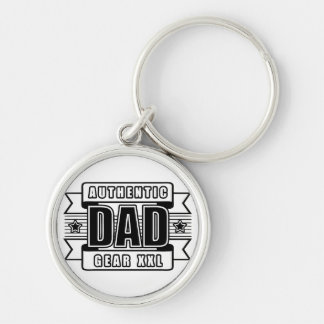 Dads Authentic Father Gear Keychain